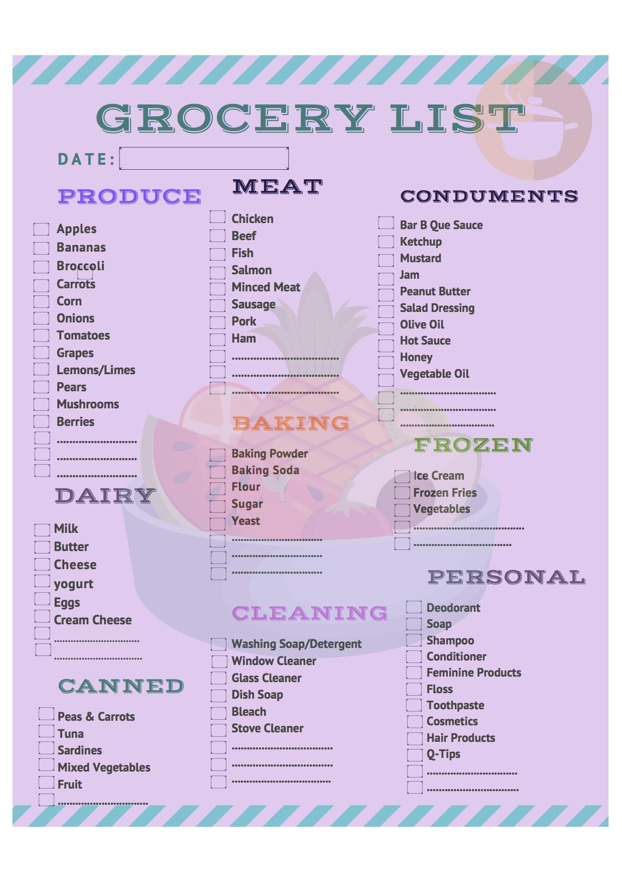 Grocery List2