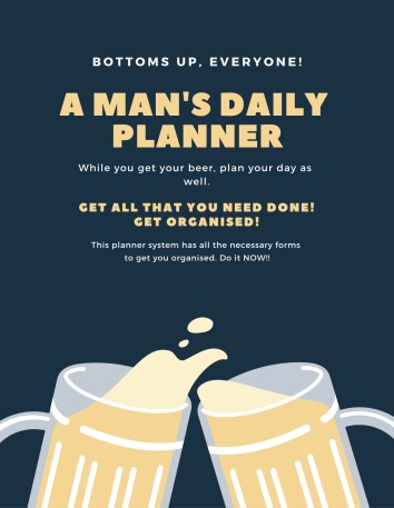 a man's daily planner